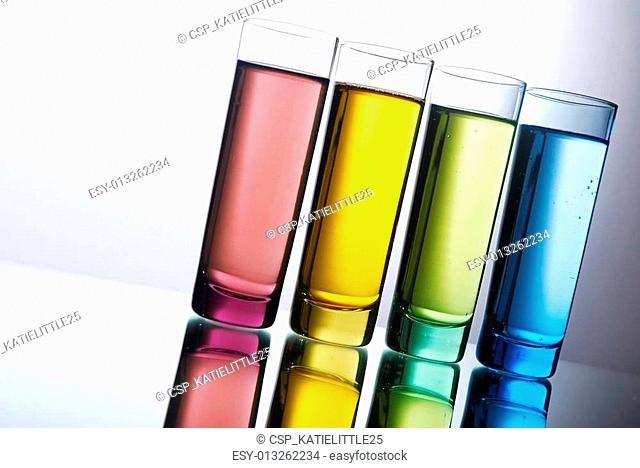 Multi-colored shot glasses
