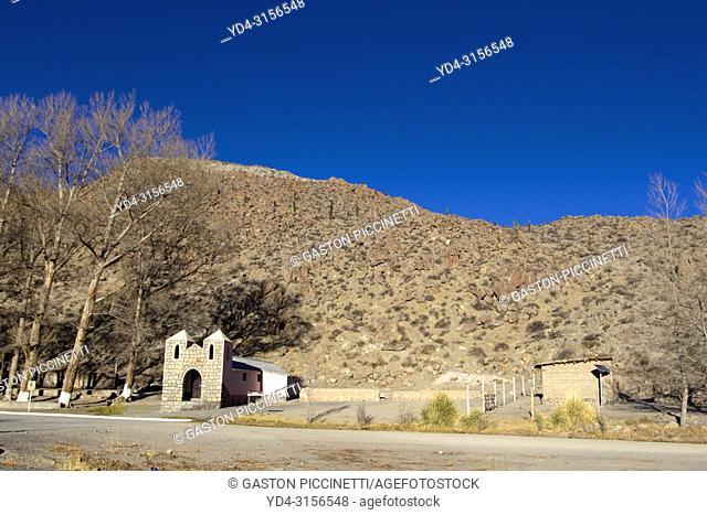 Chapel Santa Rosa de Lima. Santa Rosa de Tastil, National Route 51, La Puna, Salta, North West, Argentina . This route go to San Antonio de los Cobres