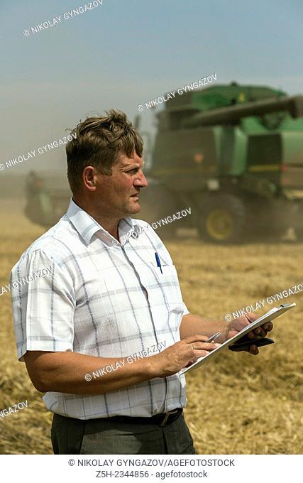 Agronomist on the field