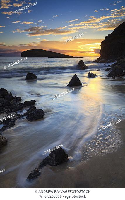 Sunset captured from the beach at Oldshoremore, near Kinlochbervie on the North West Coast of Scotland