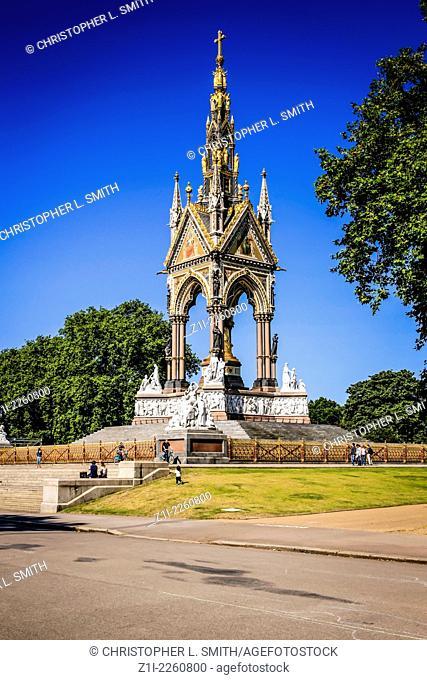 The Prince Albert Memorial Hyde Park London