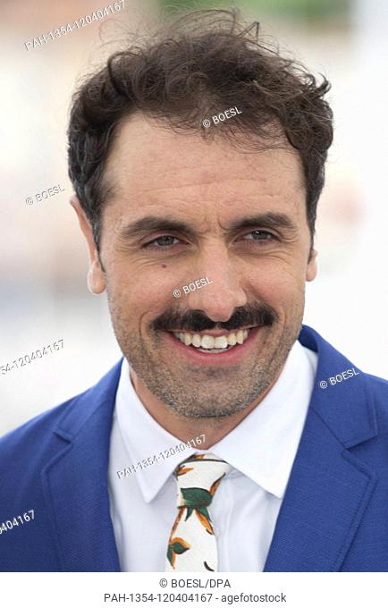 Michael Angelo Covino poses at the photocall of 'The Climb' during the 72nd Cannes Film Festival at Palais des Festivals in Cannes, France, on 17 May 2019
