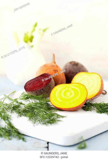 Yellow beetroot and dill