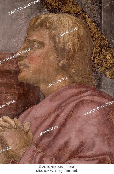 Holy Trinity - After Restoration (Trinità - dopo il restauro), by Tommaso di ser Giovanni di Mone Cassai knows as Masaccio, 1425, 15th Century, fresco