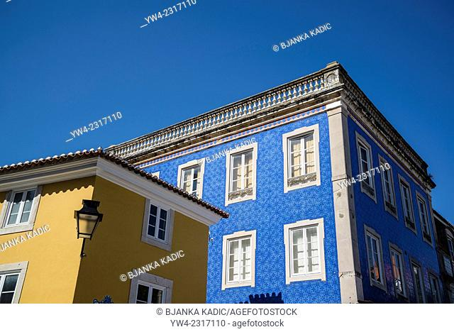 House with blue tiles, Sintra, Portugal