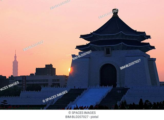 Chiang Kai-shek Memorial Hall at Sunrise