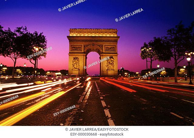 Arc de Triomphe. Paris. France