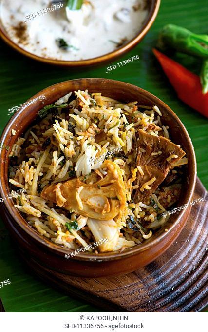 Jack fruit biryani (fried rice with jack fruit)