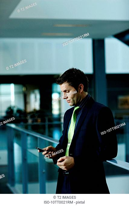 Business man with cellular phone