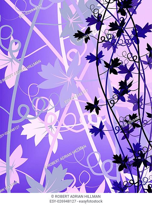 Editable vector illustration of a generic vine bush made using blends