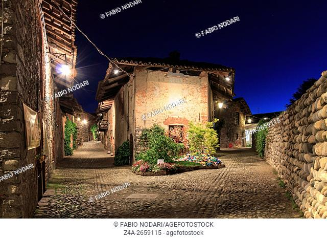 View form the inside of the Medieval village of Ricetto di Candelo in Piedmont, used as a refuge in times of attack during the Middle Age