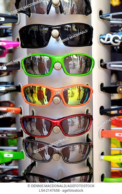 Sunglasses display Cozumel Mexico Royal Caribbean Cruise US