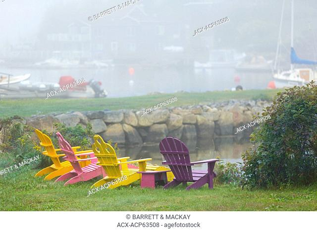 Adirondack chairs, Chester, Nova Scotia, Canada