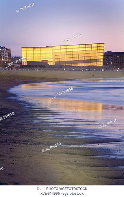 Sight of Kursaal Center from Zurriola Beach. Donostia-San Sebastián. Guipúzcoa. Basque Country. Spain