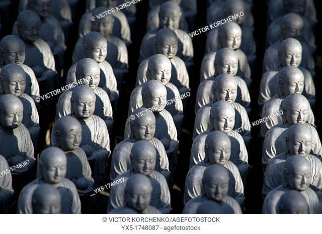 Numerous Jizo statuettes at Hasedera temple