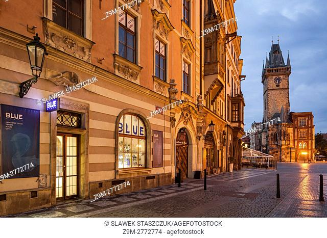 Before dawn in Prague old town, Czech Republic