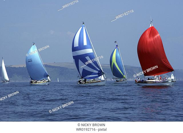 Yachts Classic Boats, Sailing River Dart, Dartmouth, Devon