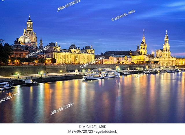 Old city of Dresden, Germany at night