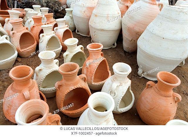 Tunisia Djerba Guellala  traditional pottery  Workshop of Younes El-Ghoul