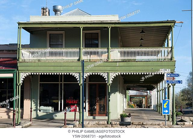 Colonial-era buildings in the goldfields town of Beechworth, NE Victoria