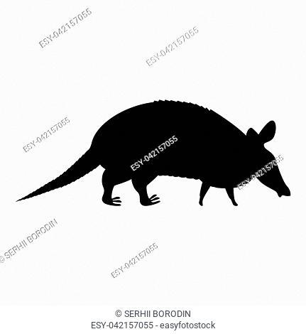 Armadillo icon black color vector illustration flat style simple image