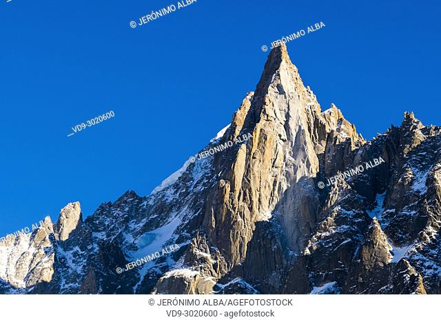 Nature mountain and snow. Chamonix Mont Blanc, Auvergne-Rhône-Alpes, department of Upper Savoy. France Europe