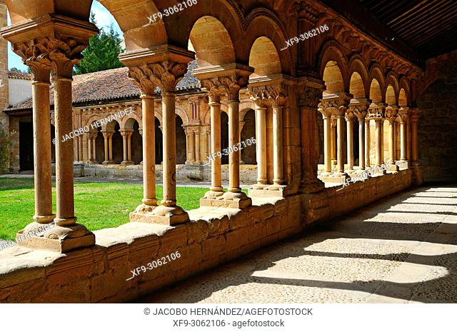 Romanesque cloister of the Cathedral of Soria. Castilla y León. Spain