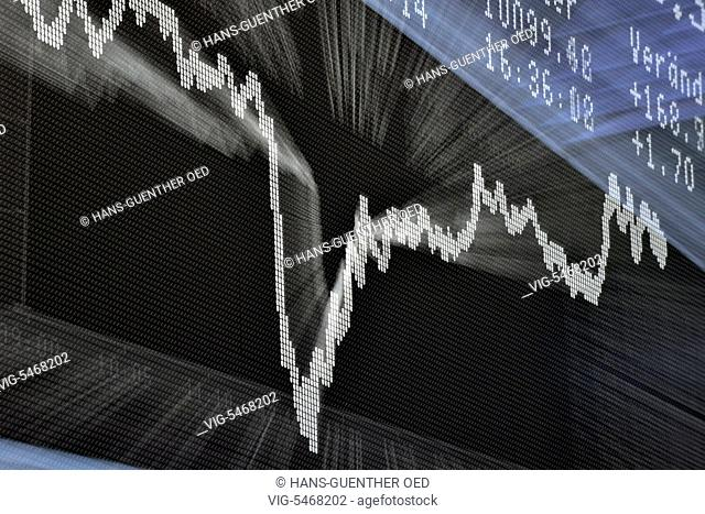 14.07.2016, GER, Frankfurt, the DAX curve on the trading floor of the Frankfurt Stock Exchange - Frankfurt, Hesse, Germany, 14/07/2016