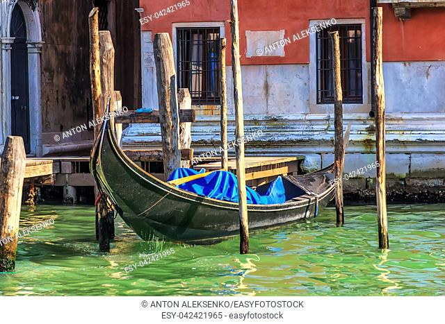 Pier for a gondola on the doorstep in Venice