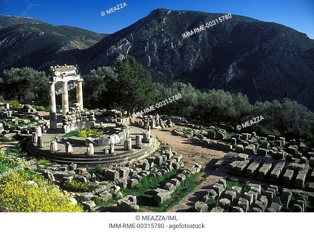 The Tholos Temple, Sanctuary of Athena Pronaia  Delphi, Central Greece, Greece