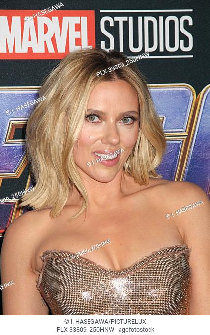 "Scarlett Johansson 04/22/2019 The world premiere of Marvel Studios' """"Avengers: Endgame"""" held at The Los Angeles Convention Center in Los Angeles, CA"