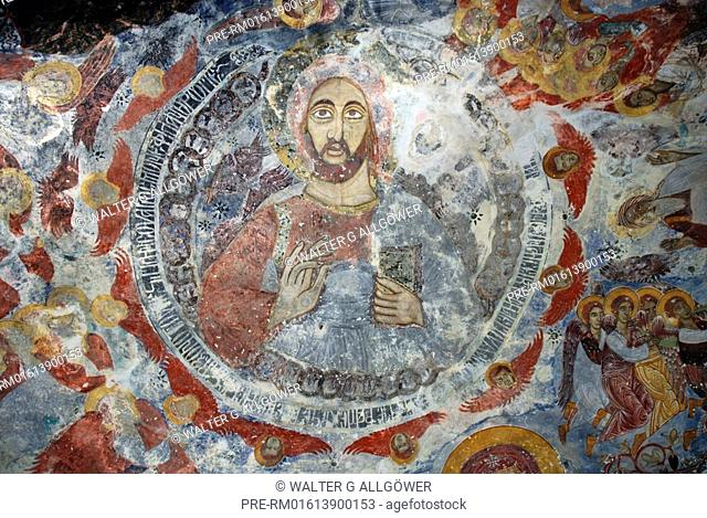 Mural paintings, Sümela Monastery, Trabzon province, Turkey
