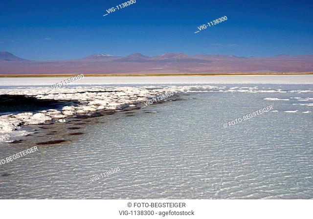 Salar de Atacama, salt lake, Atacama Desert, Chile, South America - Atacama Desert, Chile, 13/02/2009