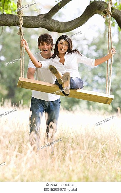 Couple with swing