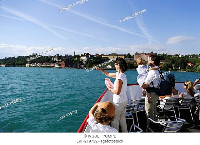 View from excursion boat to Meersburg, Baden-Wurttemberg, Germany