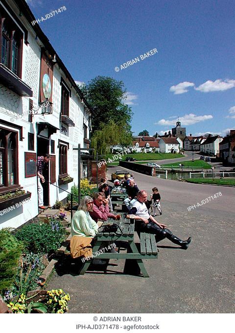 England Essex Finchingfield Village scene