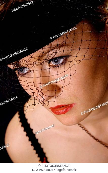 Glamourous Woman with Hat