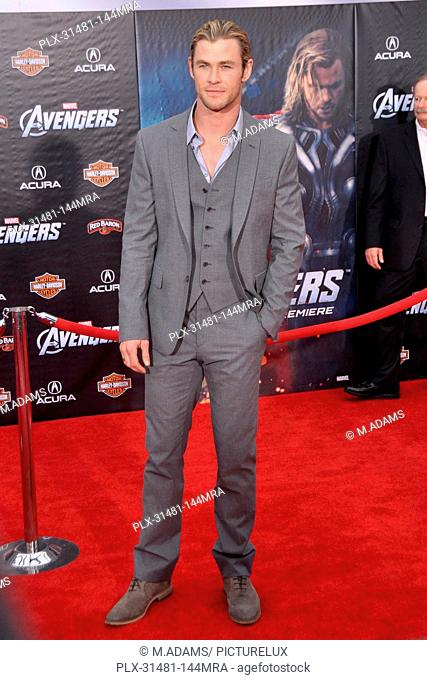 Chris Hemsworth at Marvel's The Avengers Premiere. Arrivals held at ELCapitan Theatre in Los Angeles, CA, April 11, 2012. Photo by M