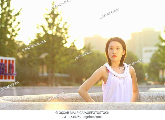 portrait of a beautiful young asian girl from shanghai china