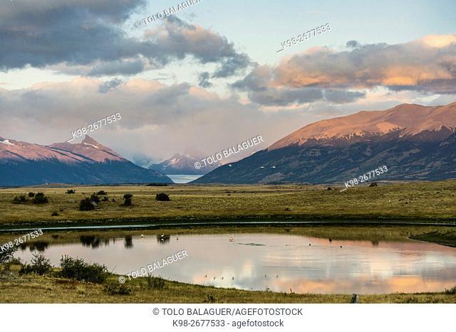 pampa cerca del Lago Roca, El Calafate ,Parque Nacional Los Glaciares republica Argentina,Patagonia, cono sur, South America