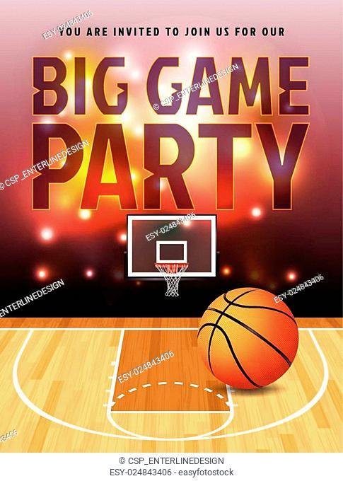 Basketball Big Game Party Illustration