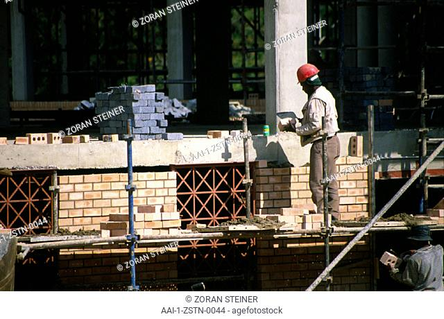 Construction workers, Woodmead, Gauteng, South Africa