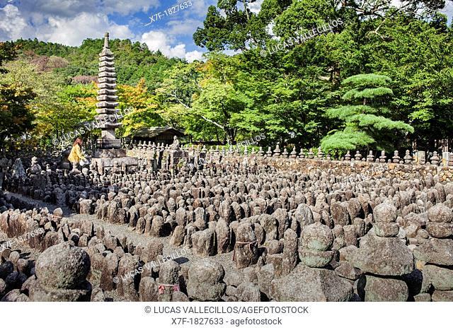 Adashino Nenbutsu dera temple, Arashiyama Sagano area,Kyoto  Kansai, Japan