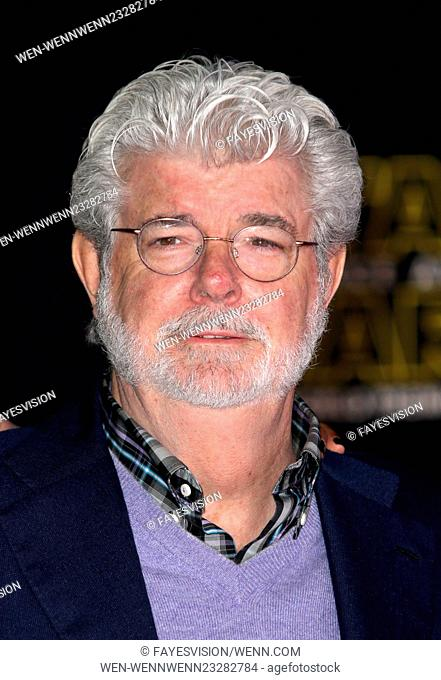 """Premiere Of Walt Disney Pictures And Lucasfilm's """"""""Star Wars: The Force Awakens"""""""" Featuring: George Lucas Where: Hollywood, California"""