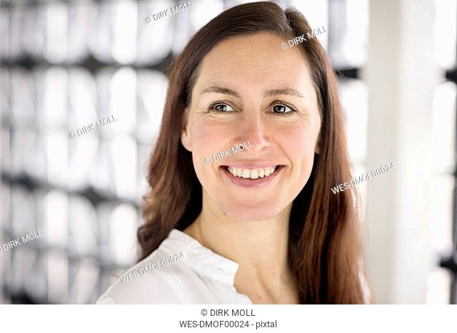 Portrait of smiling businesswoman on