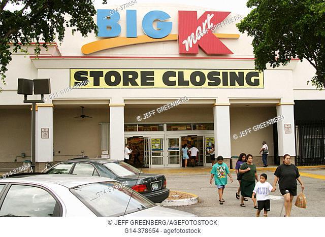 Kmart, Big K store closing. Coconut Grove. Florida. USA