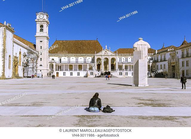 The Courtyard of the Ancient University of Coimbra, Alta Area, Baixo Mondego, Centro Region, Portugal, Europe