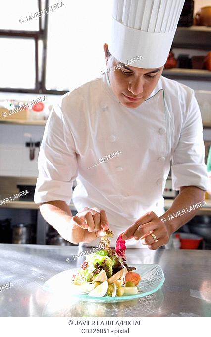 Salad. Luis Irizar cooking school. Donostia, Gipuzkoa, Basque Country, Spain