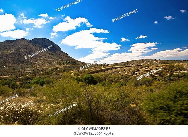 Clouds over a landscape, Real De Asientos, Aguascalientes, Mexico