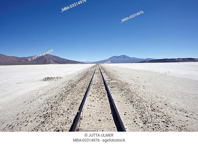 Bolivia, Los Lipez, train rails